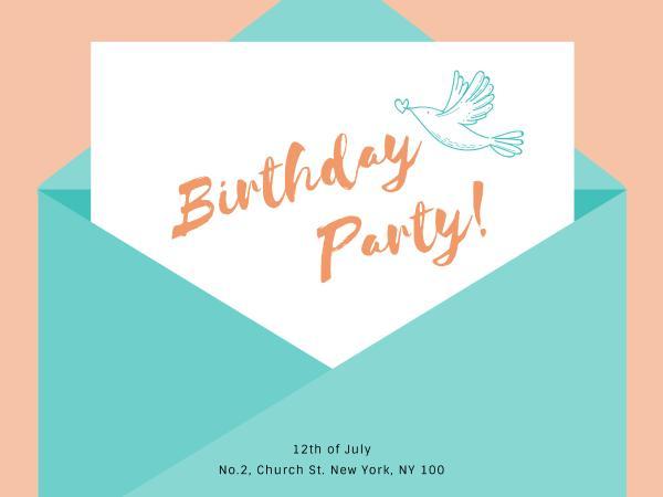 生日快乐祝福拼色白色简约贺卡设计模板素材