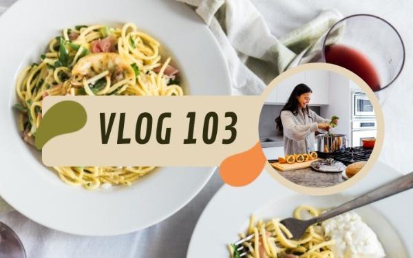 美食博主vlog視頻封面