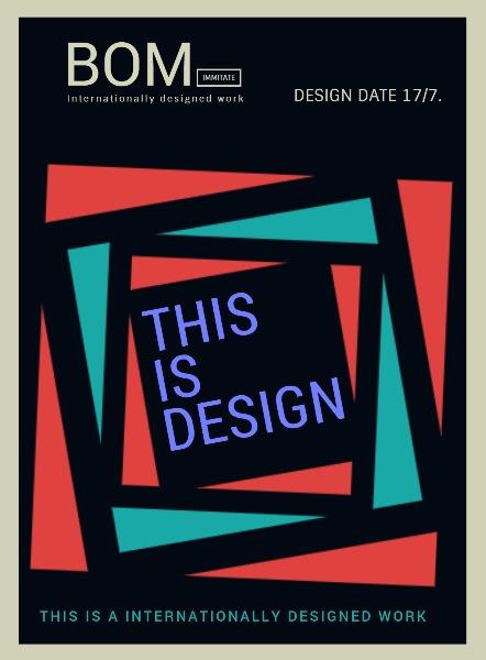几何形状个性时尚设计作品海报