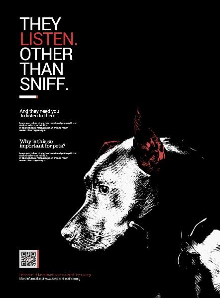 保护动物狗狗公益海报设计和印刷