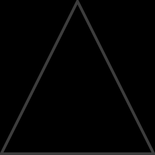 三角形等腰直角梯形框边框角直角贴纸素材