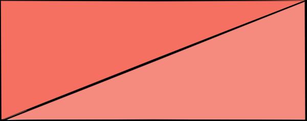 折纸长方形三角形颜色色块贴纸素材