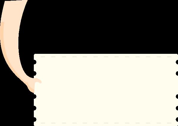 标签标题框锯齿矩形边框贴纸素材