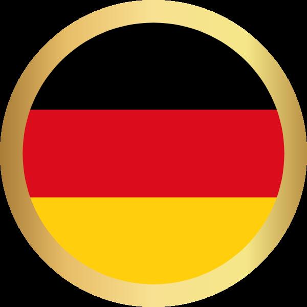 国旗圆德国国家足球贴纸素材