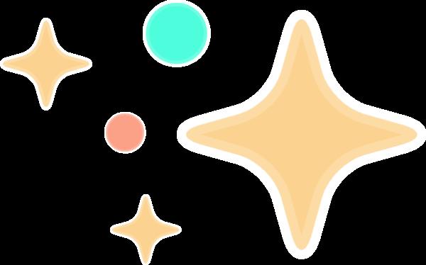 星星四角星闪耀闪烁星空贴纸素材