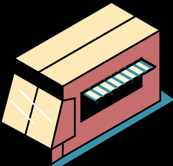 小卖部杂货店铺面房屋房子贴纸素材