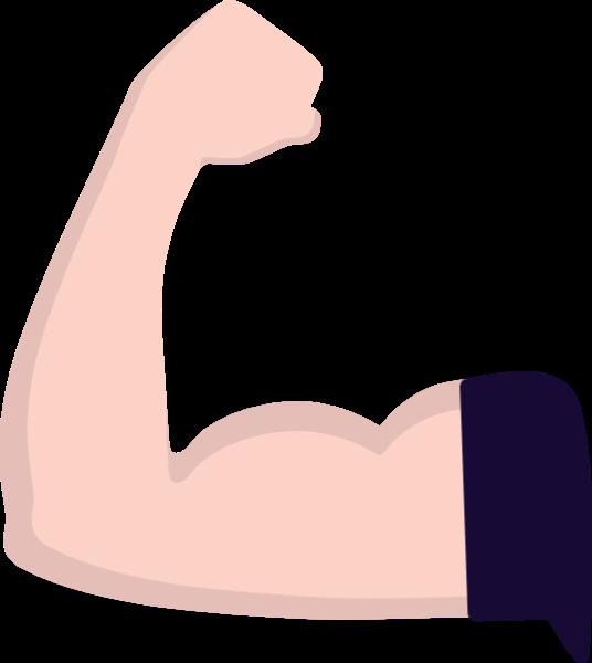 健身肌肉手臂手腕手掌贴纸素材