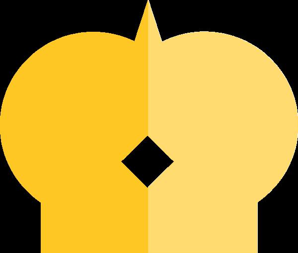 皇冠图标精致贵族黄色贴纸素材