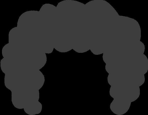 头套卷发爆炸头装饰手绘贴纸素材