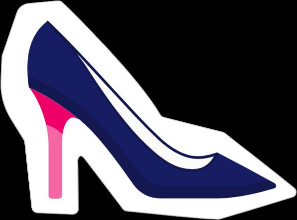 高跟鞋鞋子手绘女性少女贴纸素材