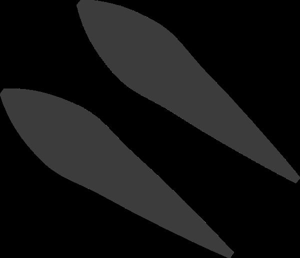 两个黑色组成的装饰点贴纸素材