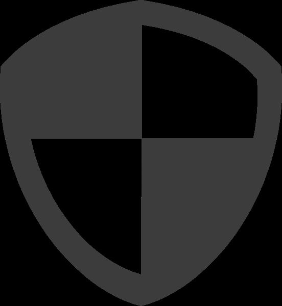 图标盾牌简笔画黑白几何组合贴纸素材