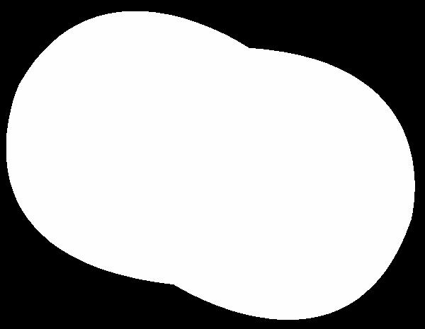 圆形圆几何白色边框贴纸素材
