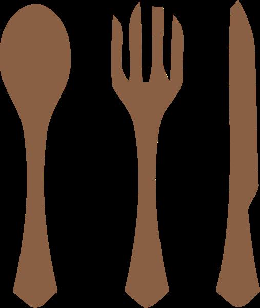 刀叉勺子餐具标志简笔贴纸素材
