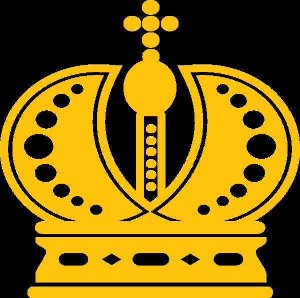 皇冠王冠黄色公主国王贴纸素材