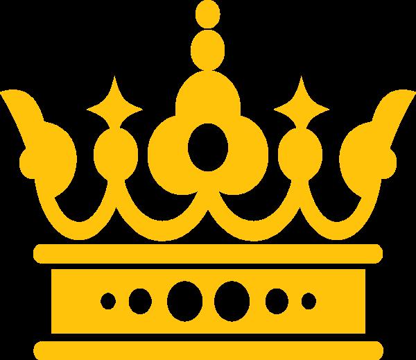 皇冠黄色公主国王节日贴纸素材