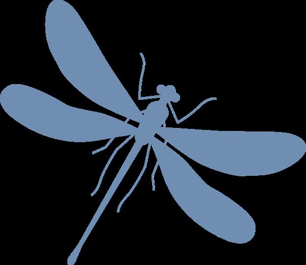 蜻蜓益虫昆虫飞翔卡通贴纸素材
