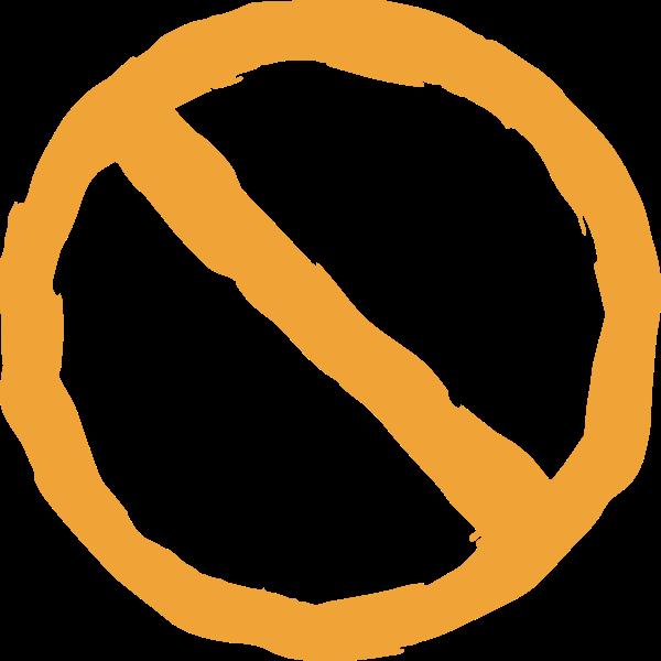 圆形圆禁止手绘矢量贴纸素材