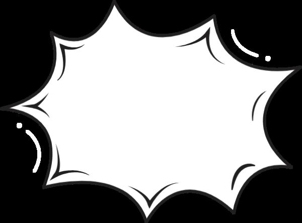 边框对话框文字框框黑边贴纸素材