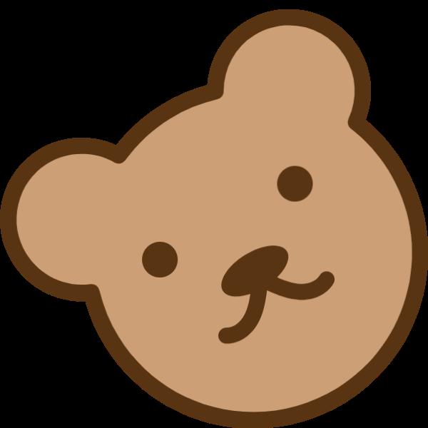 小熊小熊饼干可爱头像玩具