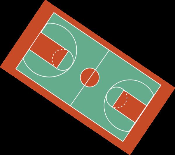 篮球架球框框球场篮球贴纸素材