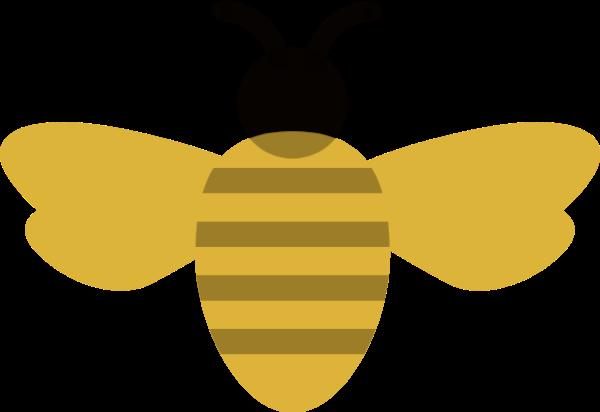 蜜蜂小蜜蜂飞翔采蜜卡通贴纸素材
