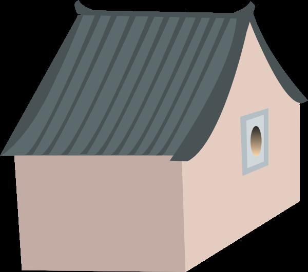 房子房屋青瓦房建筑古建筑贴纸素材