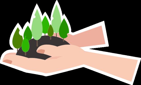 选择你喜欢的植树贴纸素材运用于设计中, 为设计增添创意,在线,快速