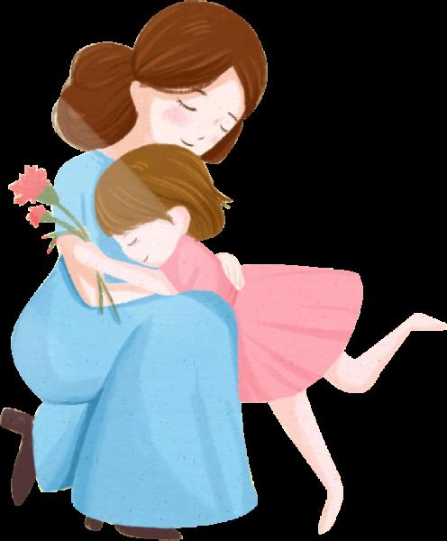 女人妈妈孩子母子家人拥抱贴纸素材和图片id47232b_懒