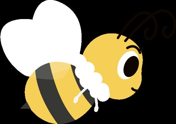 蜜蜂昆虫翅膀小动物飞翔贴纸素材