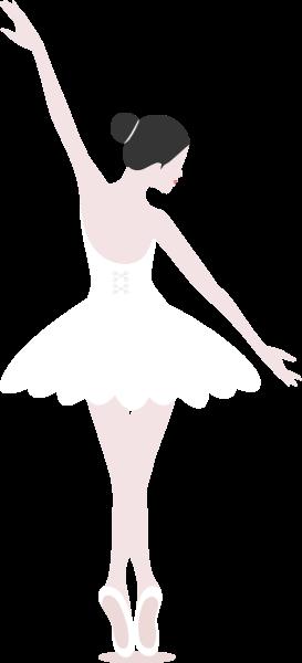 女人女性少女女人芭蕾舞人物贴纸素材