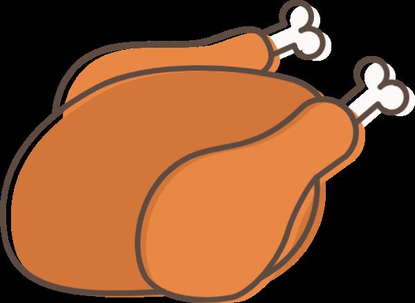 童子鸡火鸡感恩节鸡肉烤鸡肉贴纸素材
