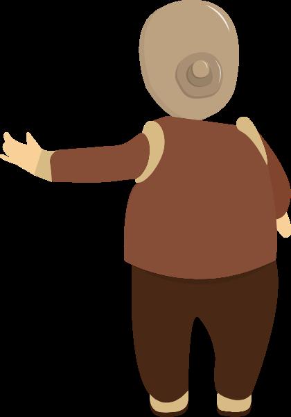 女人女性老人老奶奶老太太女人贴纸素材