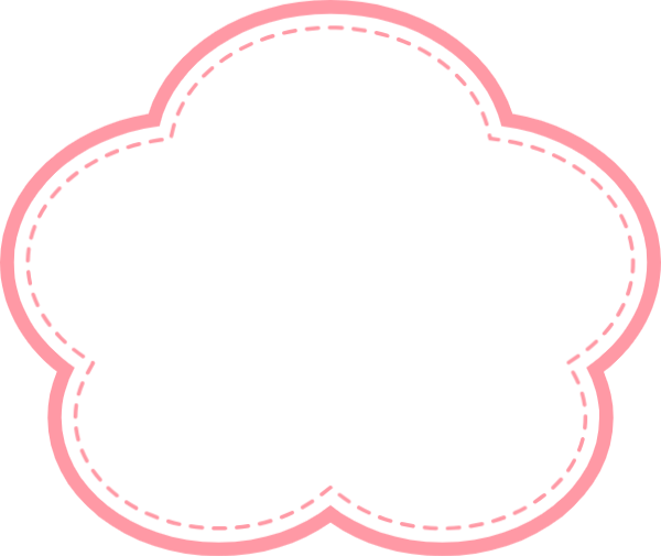 花朵云朵云边框花瓣贴纸素材