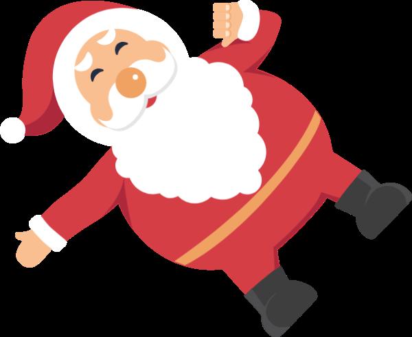 圣诞老人人物卡通圣诞圣诞节圣诞贴纸素材