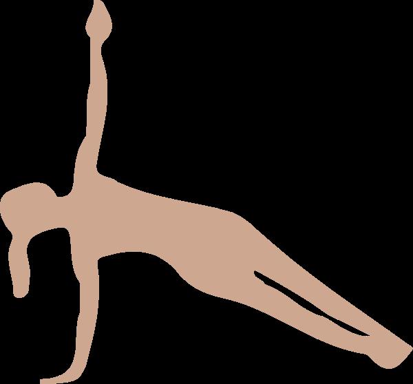 人物人瑜伽剪影运动贴纸素材