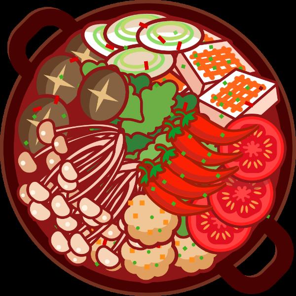 火锅四川重庆麻辣食物贴纸素材