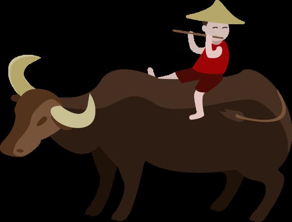 农夫与耕牛囹?a_牛水牛黄牛耕牛牲口