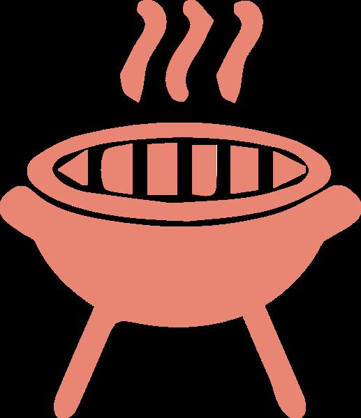 炉子锅烤炉烤肉餐具贴纸素材,个性贴纸图片和矢量图