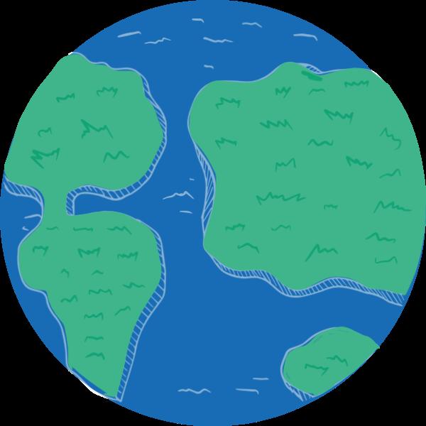 地球地图模型旅行圆形贴纸素材