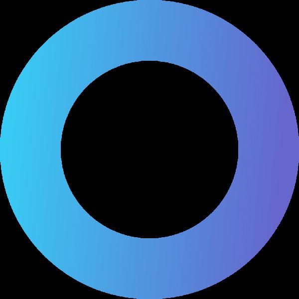 圆形圆渐变彩色圆圈贴纸素材