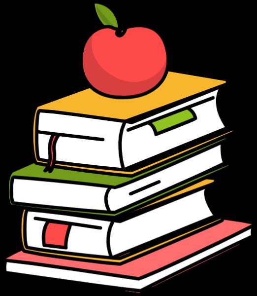书书本书籍苹果教育贴纸素材