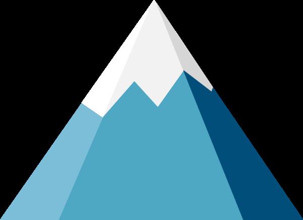 冰山山峰山登山风景贴纸素材