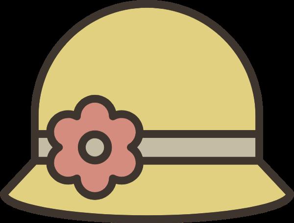 太阳帽帽子遮阳帽配饰简笔画