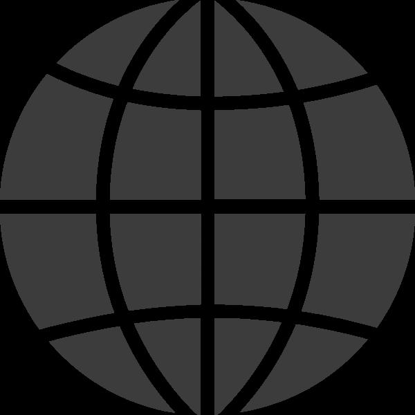 地球球联合国标志黑白贴纸素材