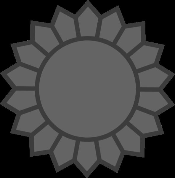 花瓣向日葵几何常用灰色贴纸素材
