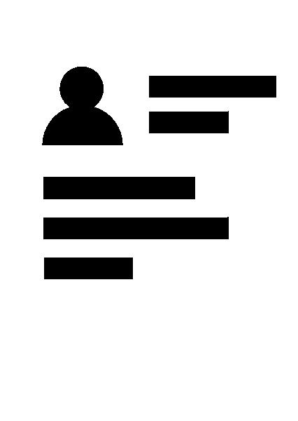 简历纸白纸办公人物介绍贴纸素材