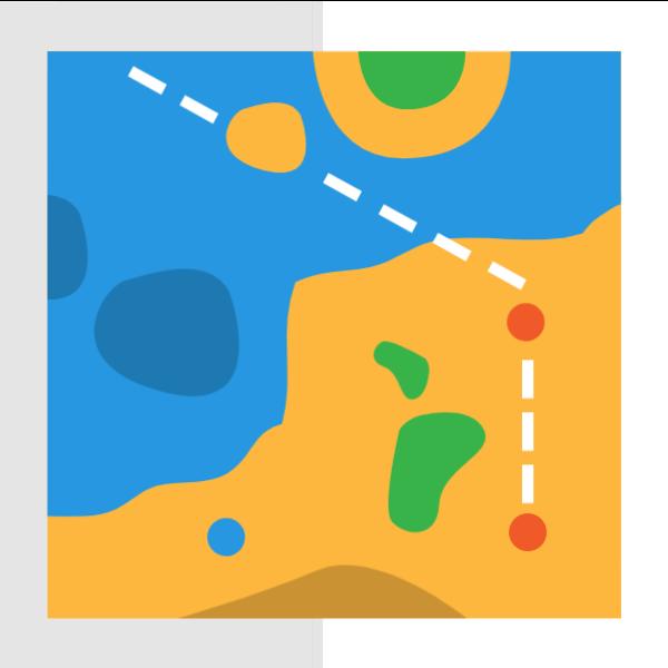 地图线路图标旅行旅游贴纸素材
