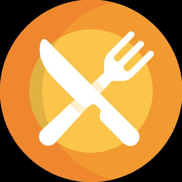 刀叉刀叉餐具盘子贴纸素材