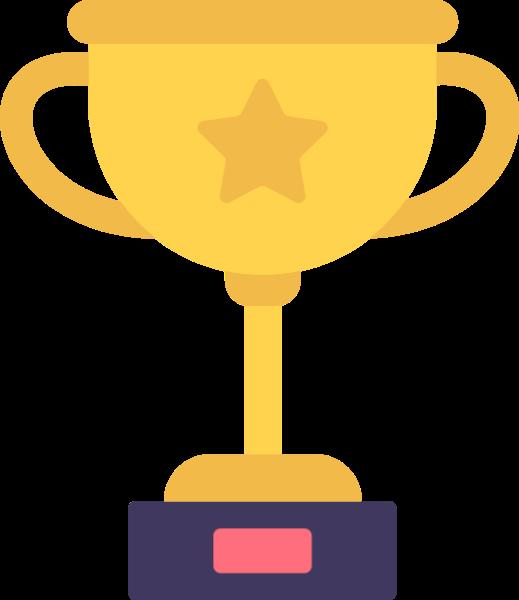 奖杯冠军第一奖章金牌贴纸素材